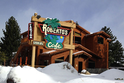 pet friendly restaurant in mammoth, california